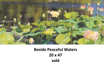 Beside Peaceful Waters 20 x 47 sold